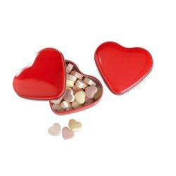 Cukierki w pudełku, serce