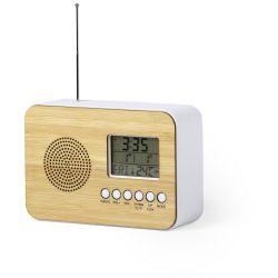 Bambusowy zegar na biurko z...