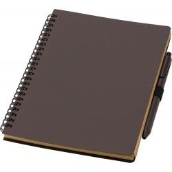 Notatnik ok, A5 z łusek kawowych z długopisem