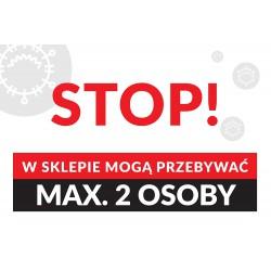 Naklejki na podłogę MAX 2 OSOBY W SKLEPIE